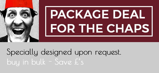 Chaps Package Deals - Specially designed upon request. Buy in bulk - save £'s